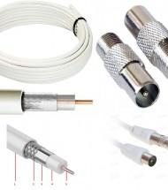 Разъемы ТВ, антенный кабель сетевой