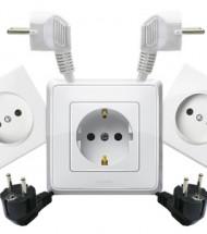 Электрические розетки, выключатели, вилки, удлинители