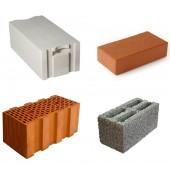 Кладочные материалы: газобетон, кирпич, шлакоблок