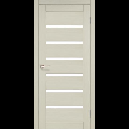 Дверь Porto PR-01 со стеклом сатин Дуб беленый
