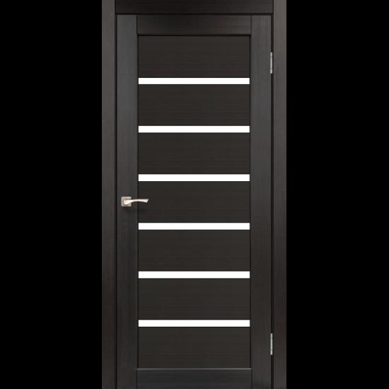 Дверь Porto PR-01 со стеклом сатин Венге
