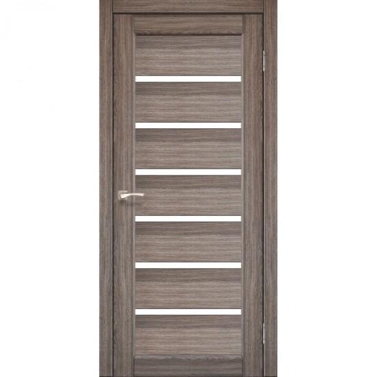 Дверь Porto PR-01 со стеклом сатин Дуб грей