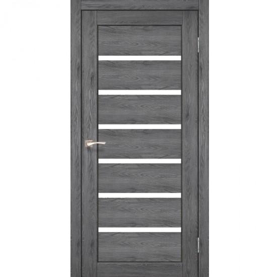 Дверь Porto PR-01 со стеклом сатин Дуб марсала