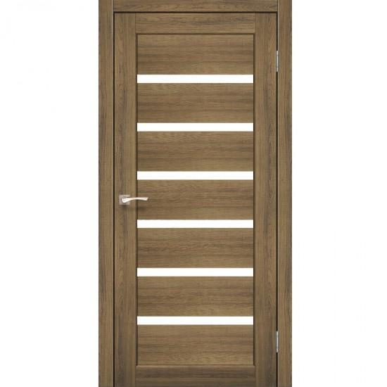 Дверь Porto PR-01 со стеклом сатин Дуб браш
