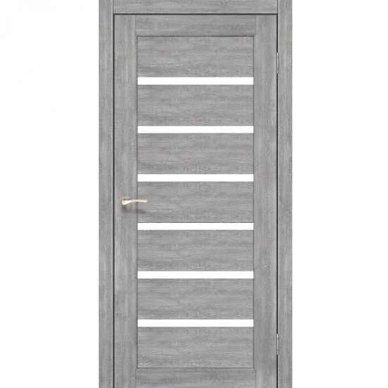 Дверь Porto PR-01 со стеклом сатин Эш-вайт