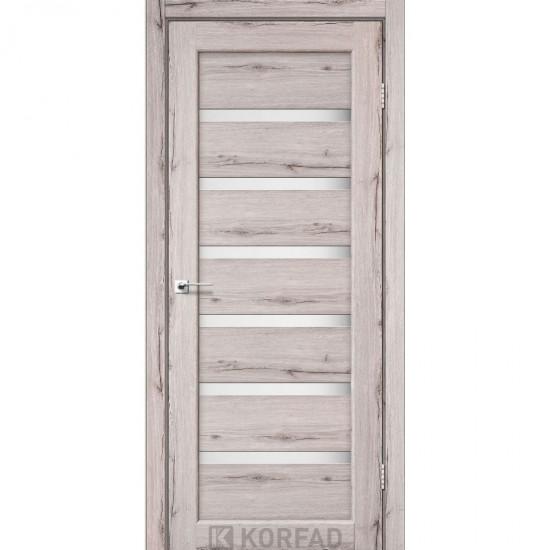 Дверь Porto PR-01 со стеклом сатин Дуб нордик