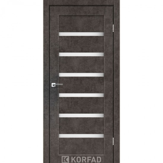 Дверь Porto PR-01 со стеклом сатин Лофт бетон