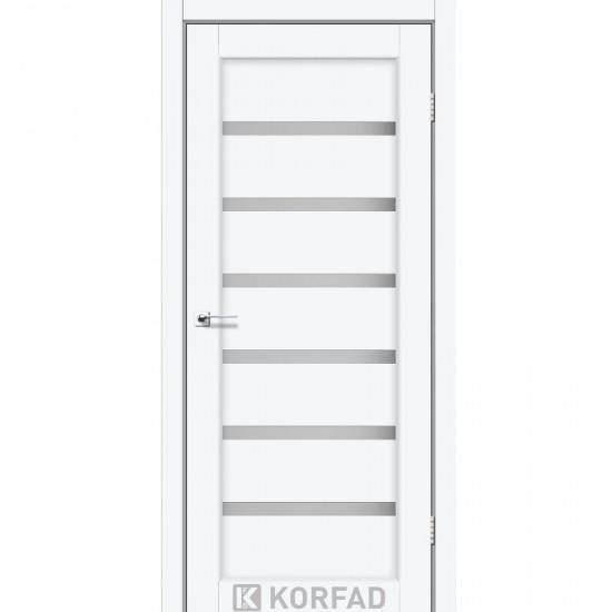 Дверь Porto PR-01 со стеклом сатин Белый перламутр
