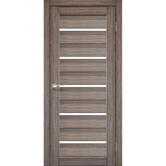 Дверь Porto PR-02 со стеклом сатин Дуб грей