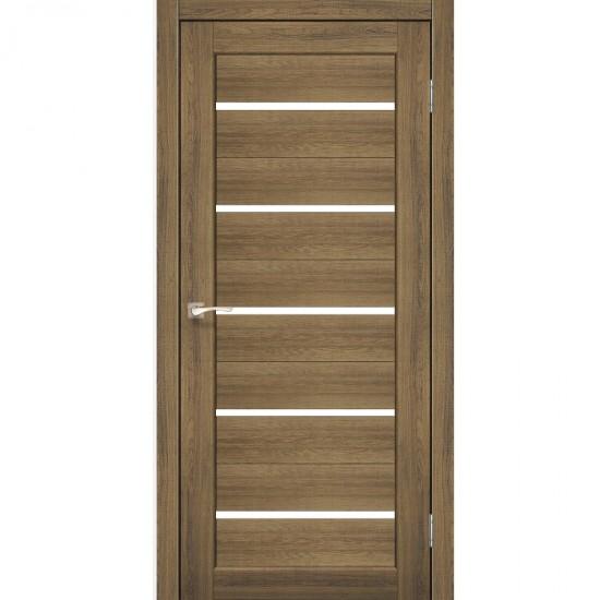 Дверь Porto PR-02 со стеклом сатин Дуб браш