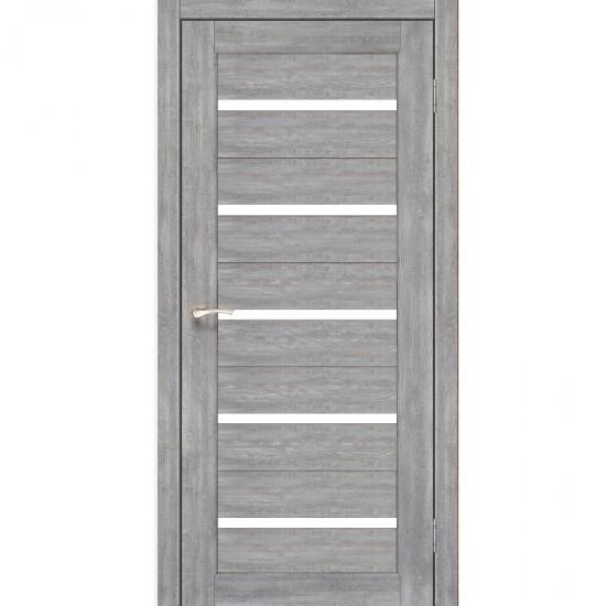 Дверь Porto PR-02 с черным стеклом Эш-вайт
