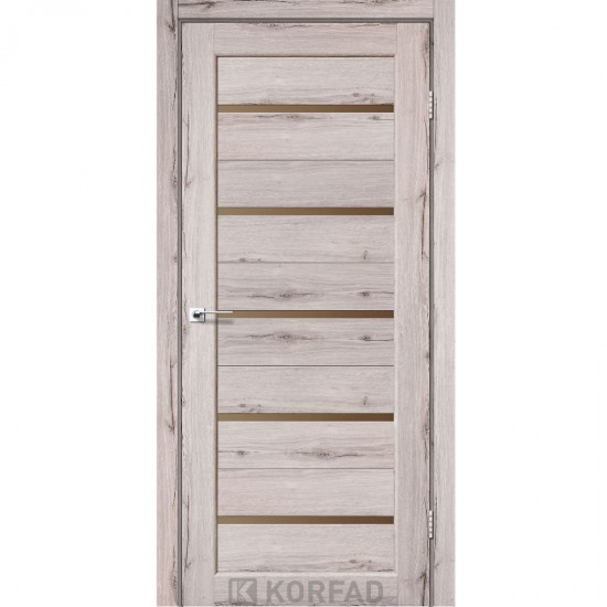 Дверь Porto PR-02 со стеклом бронза Дуб нордик