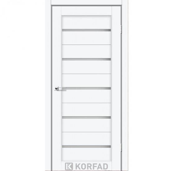 Дверь Porto PR-02 со стеклом сатин Белый перламутр