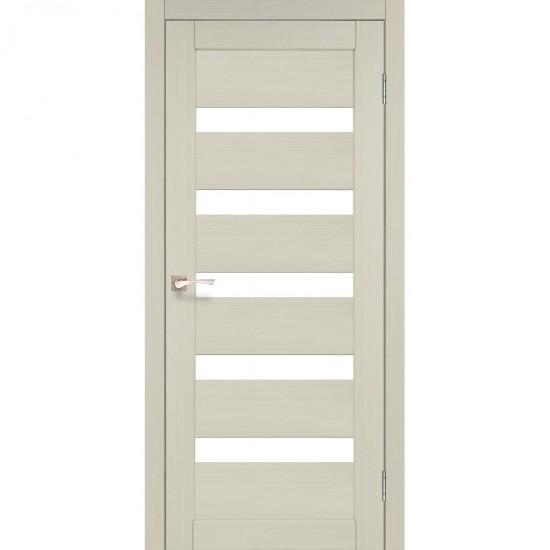 Дверь Porto PR-03 со стеклом бронза Дуб беленый