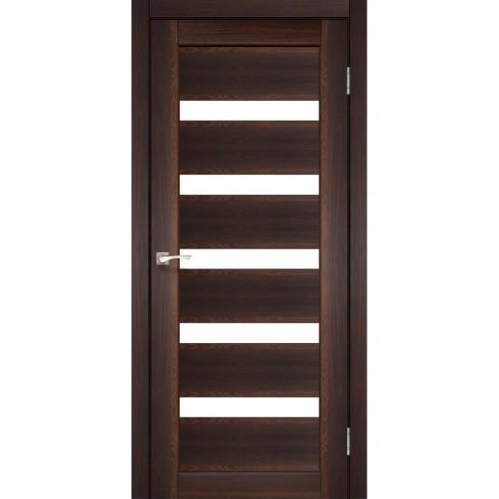 Дверь Porto PR-03 со стеклом бронза Орех