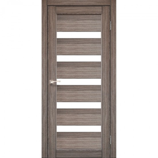 Дверь Porto PR-03 со стеклом сатин Дуб грей
