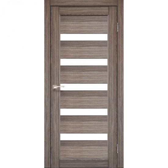 Дверь Porto PR-03 со стеклом бронза Дуб грей