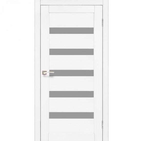 Дверь Porto PR-03 со стеклом сатин Ясень белый