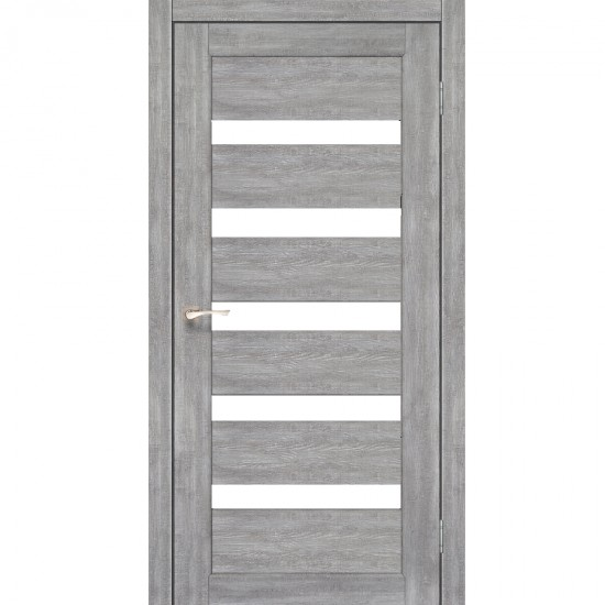 Дверь Porto PR-03 со стеклом сатин Эш-вайт