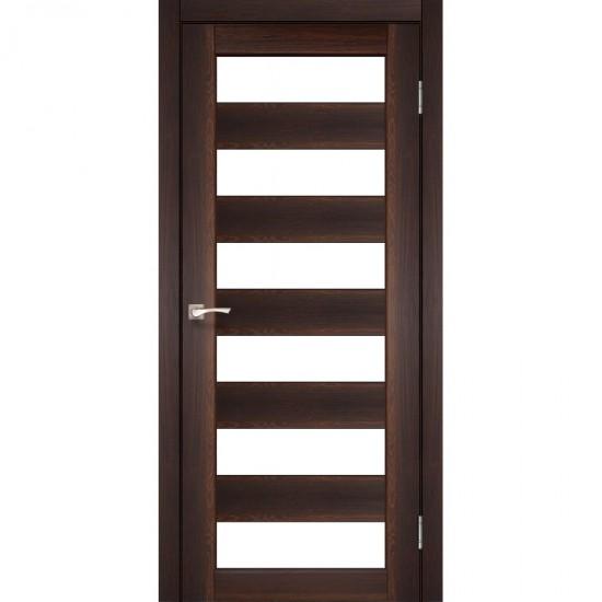 Дверь Porto PR-04 со стеклом бронза Орех