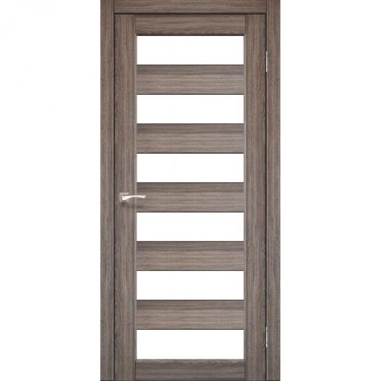 Дверь Porto PR-04 со стеклом сатин Дуб грей