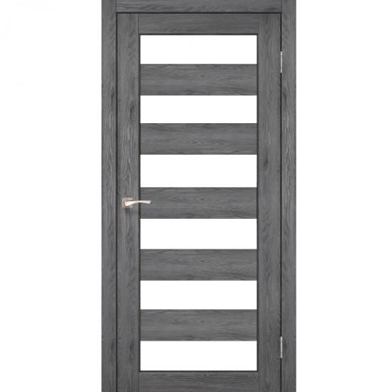 Дверь Porto PR-04 со стеклом сатин Дуб марсала