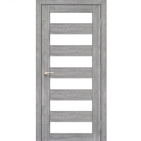 Дверь Porto PR-04 со стеклом сатин Эш-вайт