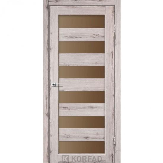 Дверь Porto PR-04 со стеклом бронза Дуб нордик