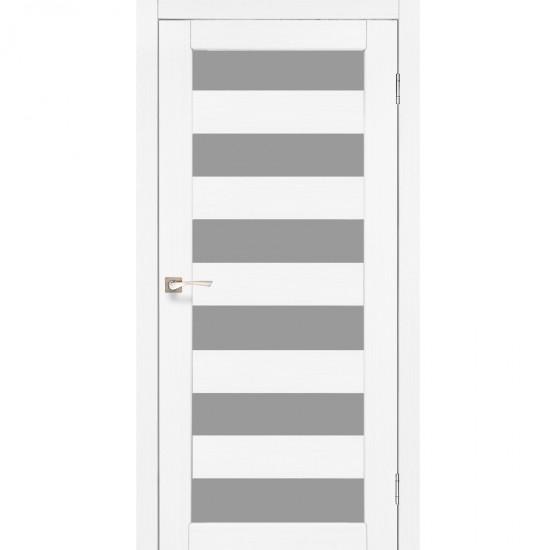 Дверь Porto PR-04 со стеклом сатин Белый перламутр