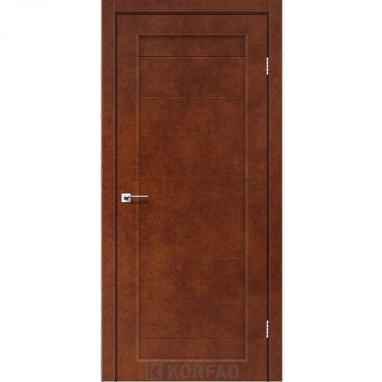 Дверь Porto PR-05 глухое Сталь кортен