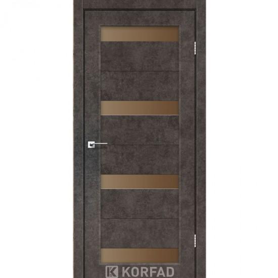 Дверь Porto PR-06 с черным стеклом Венге