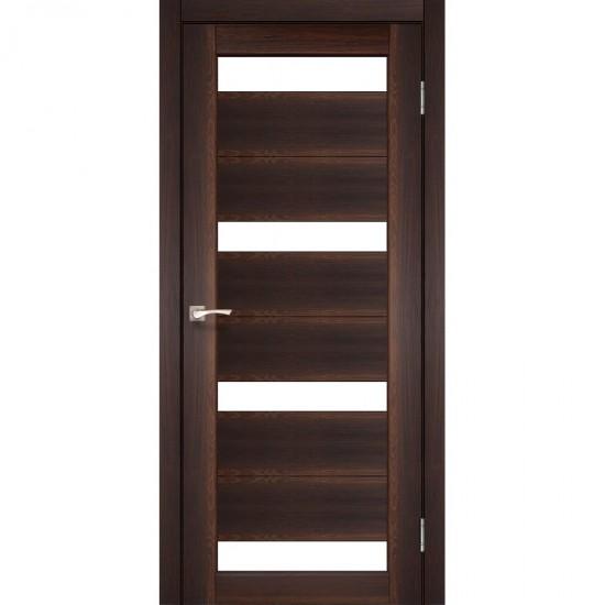 Дверь Porto PR-06 со стеклом бронза Орех