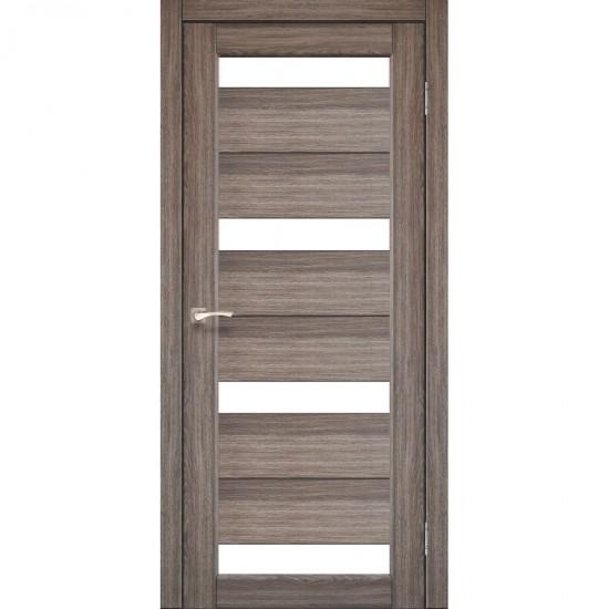 Дверь Porto PR-06 со стеклом сатин Дуб грей