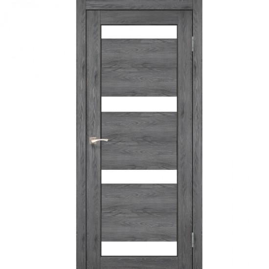 Дверь Porto PR-06 со стеклом сатин Дуб марсала