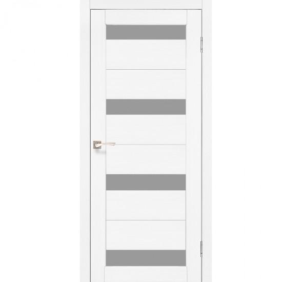 Дверь Porto PR-06 со стеклом сатин Ясень белый