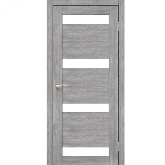 Дверь Porto PR-06 со стеклом сатин Эш-вайт