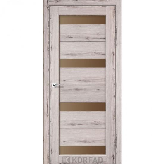 Дверь Porto PR-06 со стеклом бронза Дуб нордик