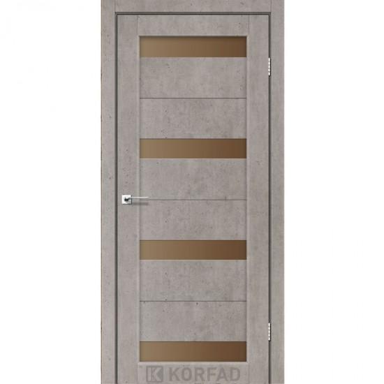 Дверь Porto PR-06 со стеклом сатин Лайт бетон