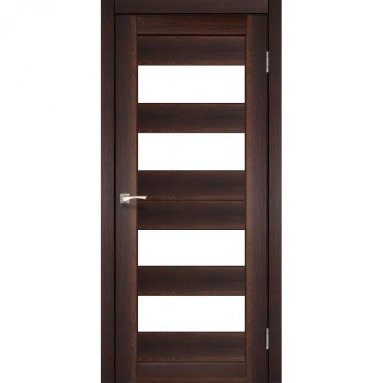 Дверь Porto PR-07 со стеклом бронза Орех