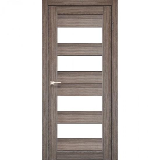 Дверь Porto PR-07 со стеклом сатин Дуб грей