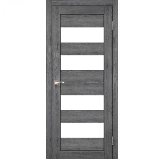 Дверь Porto PR-07 со стеклом сатин Дуб марсала