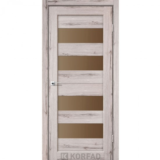 Дверь Porto PR-07 со стеклом бронза Дуб нордик