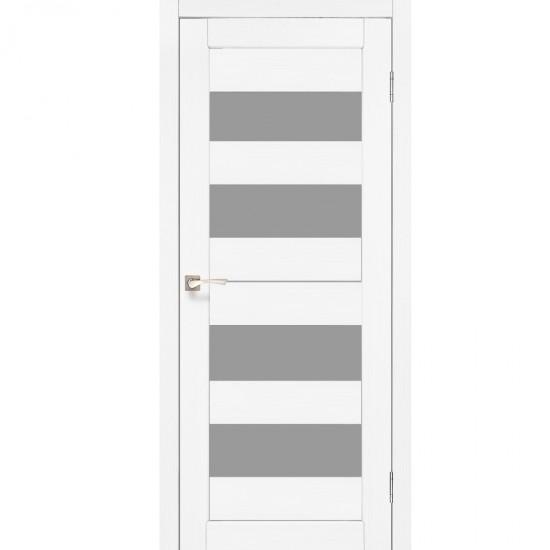Дверь Porto PR-07 со стеклом сатин Белый перламутр