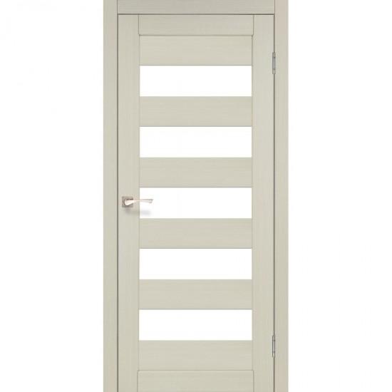 Дверь Porto PR-08 со стеклом бронза Дуб беленый