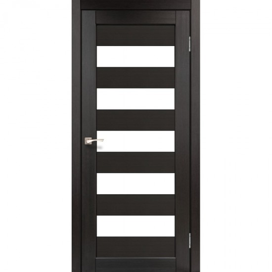 Дверь Porto PR-08 со стеклом сатин Венге
