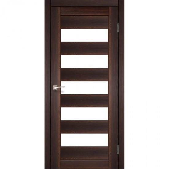 Дверь Porto PR-08 со стеклом бронза Орех