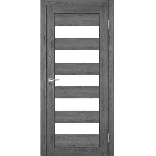 Дверь Porto PR-08 со стеклом сатин Дуб марсала