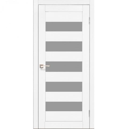 Дверь Porto PR-08 со стеклом сатин Ясень белый