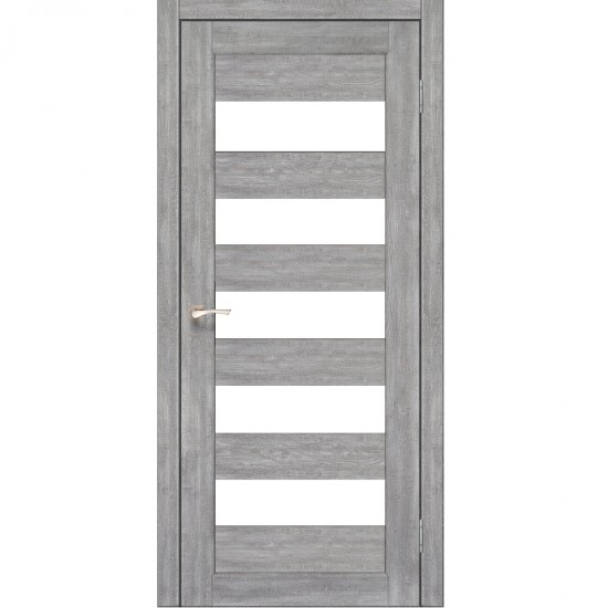 Дверь Porto PR-08 со стеклом сатин Эш-вайт