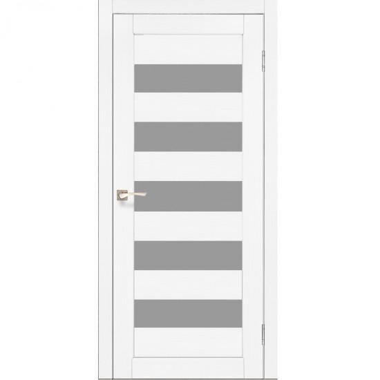 Дверь Porto PR-08 со стеклом сатин Белый перламутр